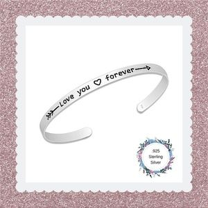 "Sterling Silver ""Love You Forever"" Bracelet"